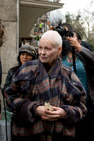 Vivienne Westwood joins anti Fracking Protest London UK