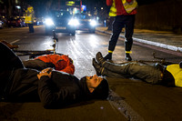 Cyclist die-in vigil and protest, London, UK