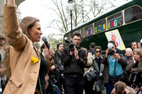 Vanessa Vine speaks at anti Fracking Protest London UK