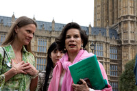 Bianca Jagger attends the Mothers against Fracking Protest London UK