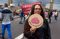 """Balls To The Budget"" Anti Austerity Protest, London, UK"
