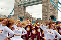 USC Trojan Marching band perform in London, UK