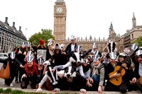 Love the badger flashmob Parliament Square
