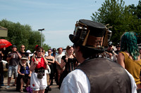 Steampunk Morris perform at the Markfield Steam Engine Museum