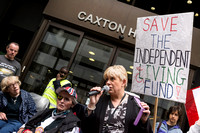 Independent Living Fund protest, London UK