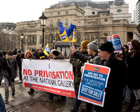 National Gallery Strike London, UK
