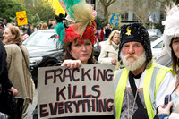 Anti Fracking Protest London UK