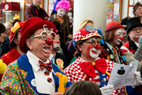 Clowns attend Joseph Grimaldi memorial service, London