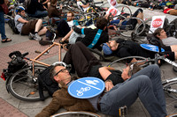 Cyclists protest road deaths, London UK