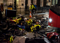 Cyclist die-in vigil and protest, Holborn, London, UK