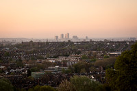 Dawn view from Alexandra Palace Park, London, UK