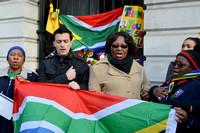 Reaction to the death of Nelson Mandela, London UK