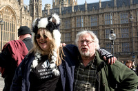 Bill Oddie attends badger cull Protest, London, UK