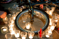 London cyclists protest against high death toll on the roads, London, UK