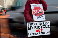 Stop Killing Cyclists Requiem Die-In London