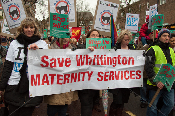 Whittington Hospital Protest March, London, UK