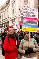 National demo against racism and fascism, London, UK