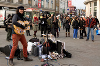 Buskers Protest in Camden, London, UK
